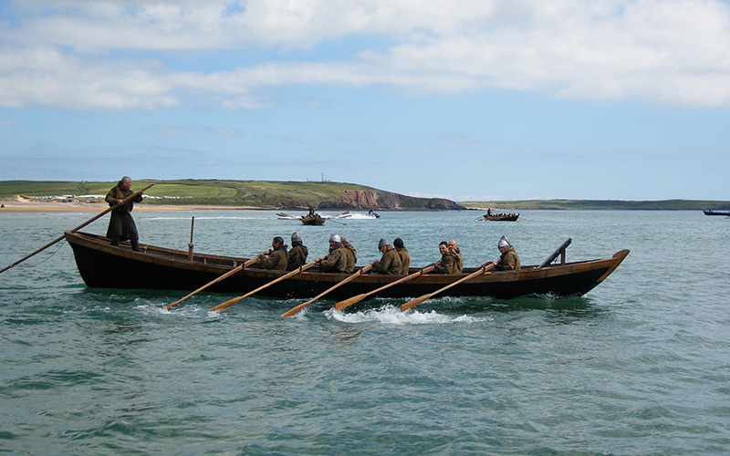 Period-Row-Boat-for-invasion-scenes-in-the-film--------------Robin-Hood