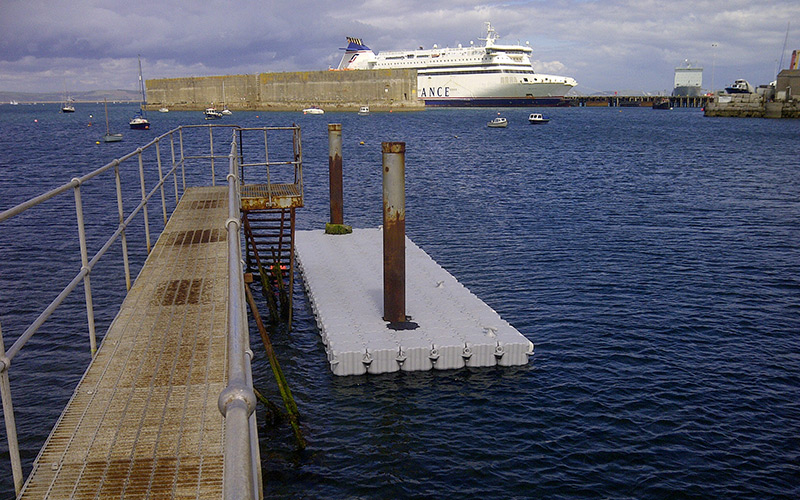 Pontoon-USed-for-boat-Docking-in-Portland-Harbour